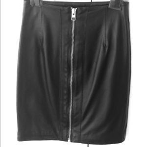 Allsaints Spitafields Black leather skirt